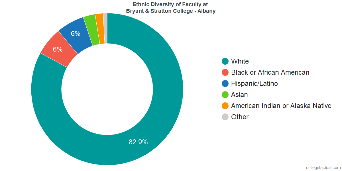 Ethnic Diversity of Faculty at Bryant & Stratton College - Albany