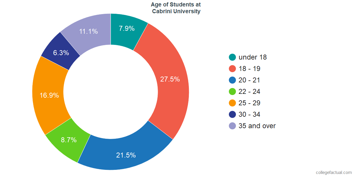 Age of Undergraduates at Cabrini University
