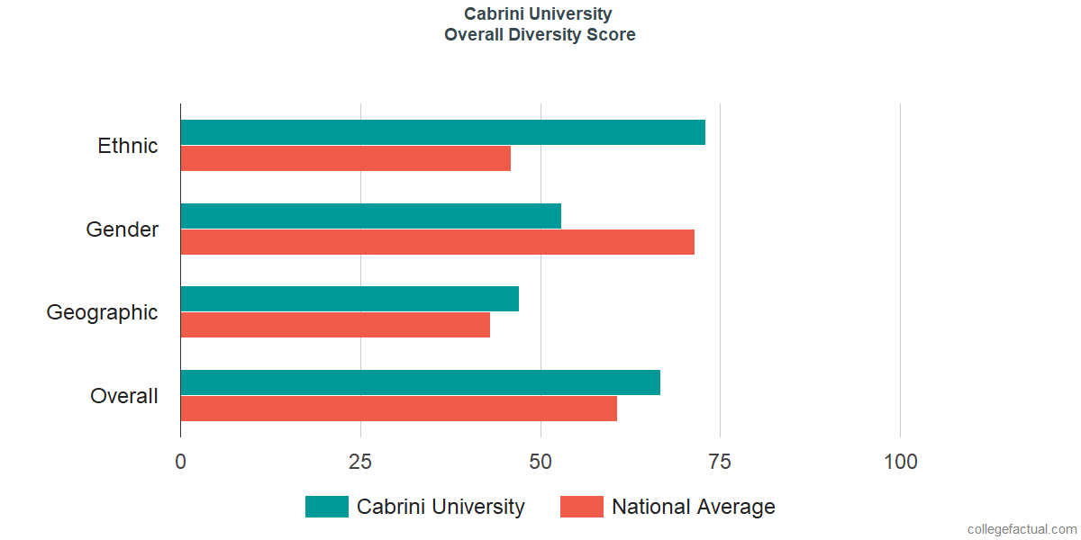 Overall Diversity at Cabrini University