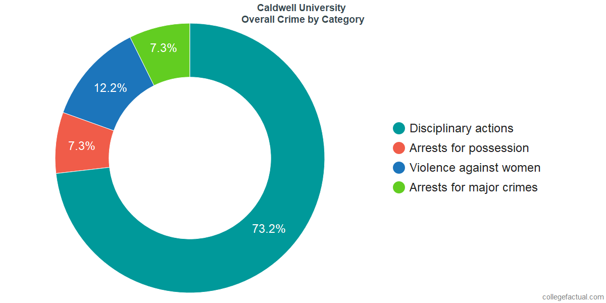 Overall Crime and Safety Incidents at Caldwell University by Category