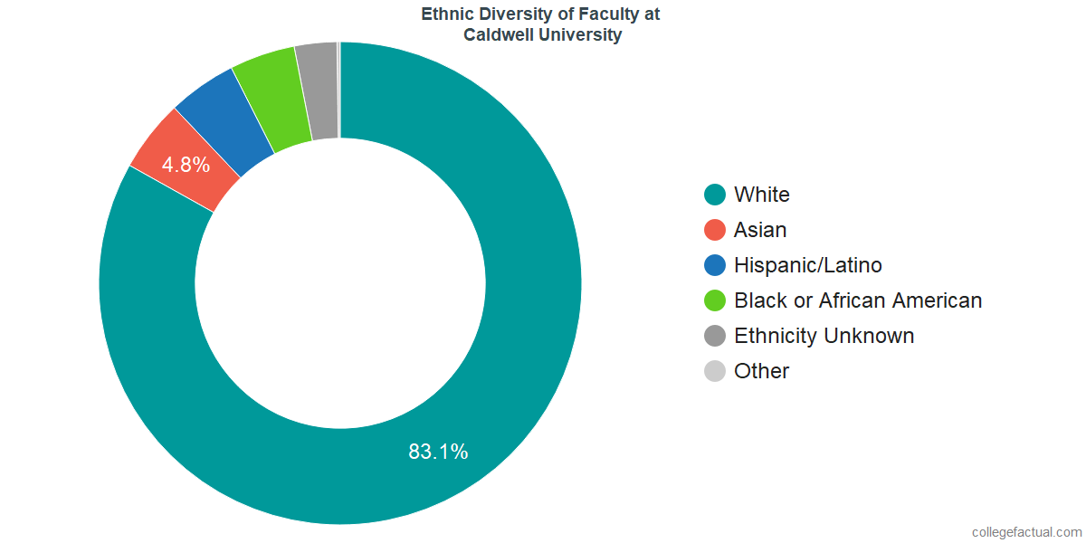 Ethnic Diversity of Faculty at Caldwell University