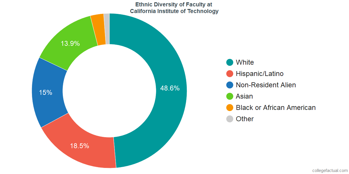 Ethnic Diversity of Faculty at California Institute of Technology