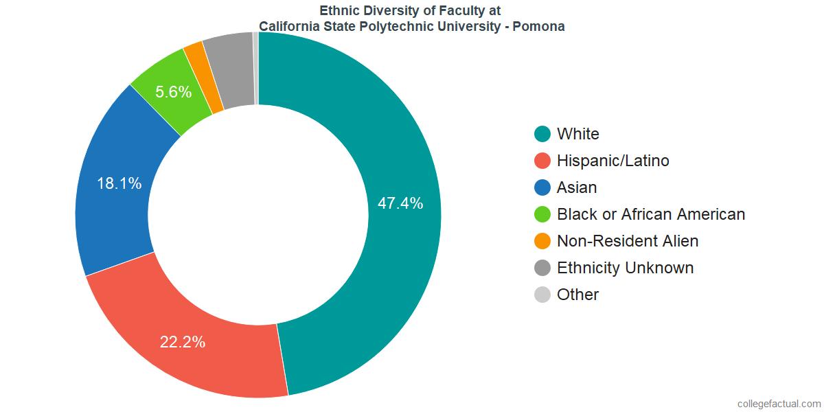 Ethnic Diversity of Faculty at California State Polytechnic University - Pomona