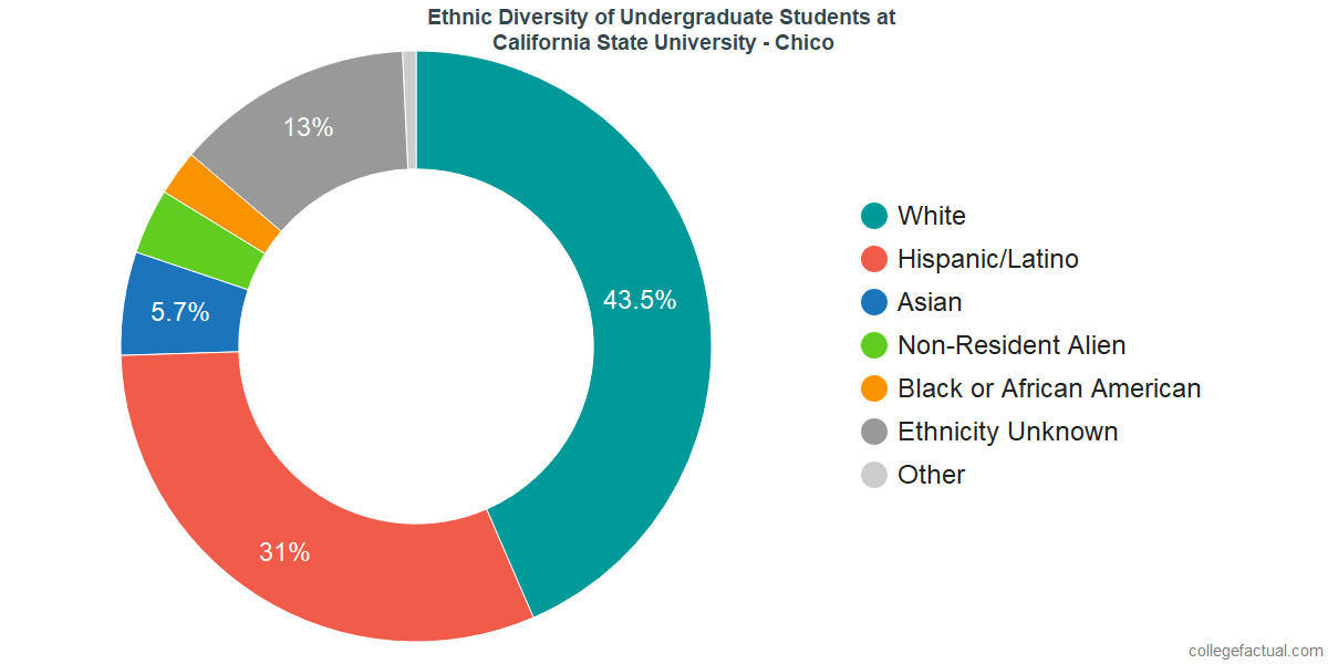 Ethnic Diversity of Undergraduates at California State University - Chico