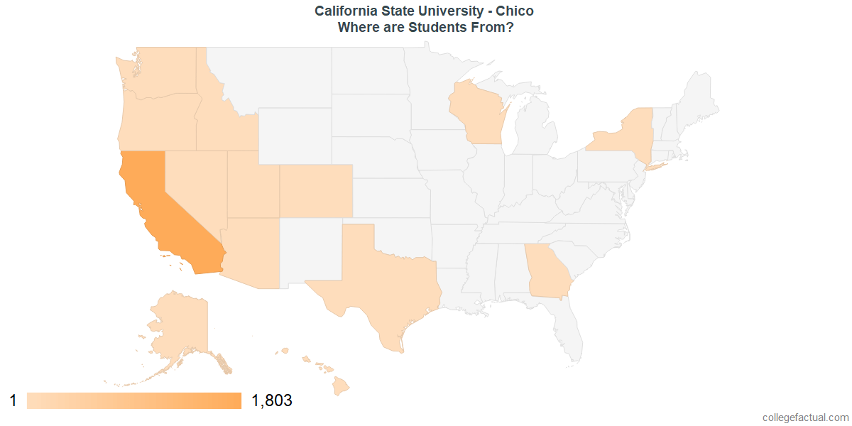 What States are Undergraduates at California State University - Chico From?