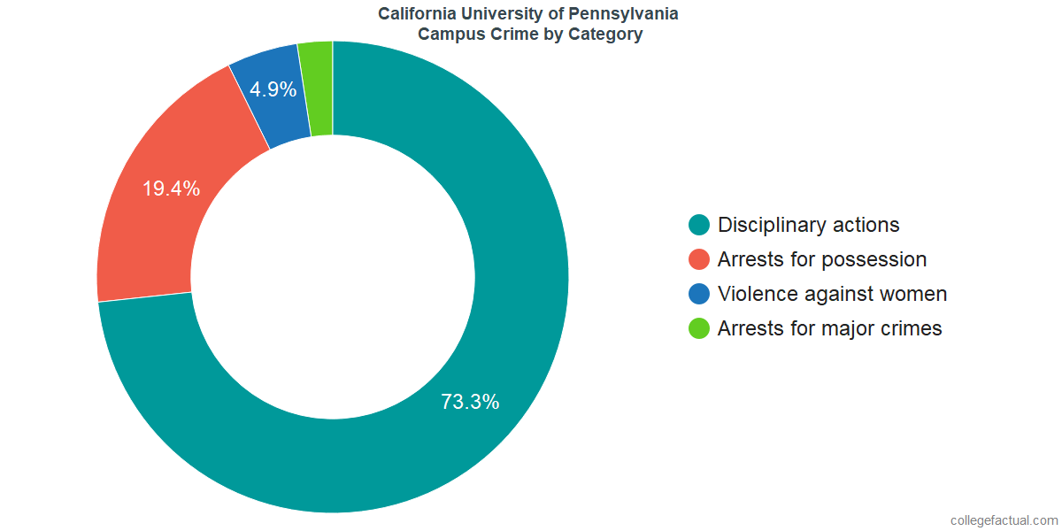 On-Campus Crime and Safety Incidents at California University of Pennsylvania by Category