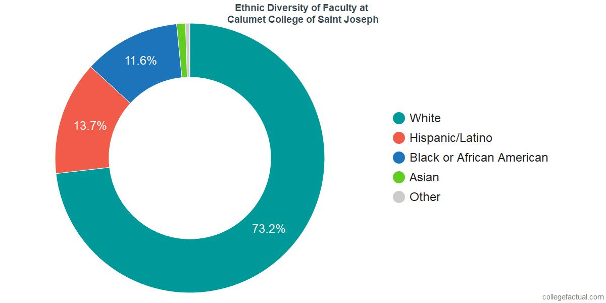 Ethnic Diversity of Faculty at Calumet College of Saint Joseph