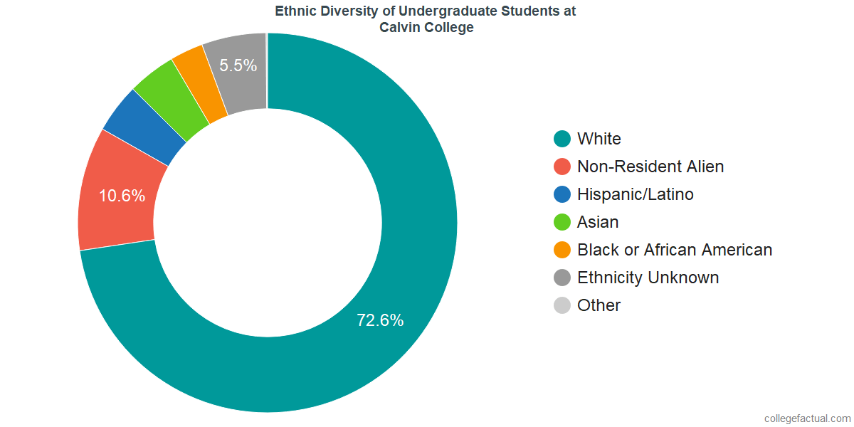 Ethnic Diversity of Undergraduates at Calvin University