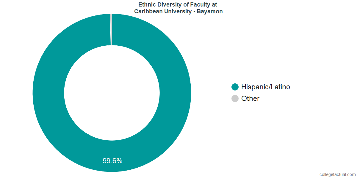 Ethnic Diversity of Faculty at Caribbean University - Bayamon