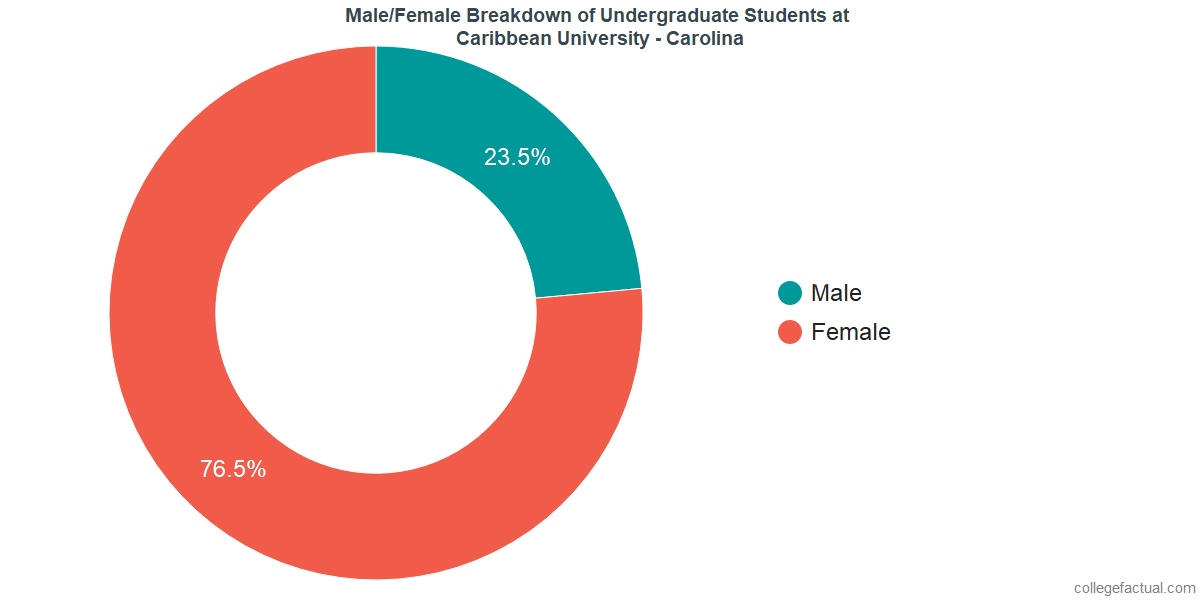 Male/Female Diversity of Undergraduates at Caribbean University - Carolina