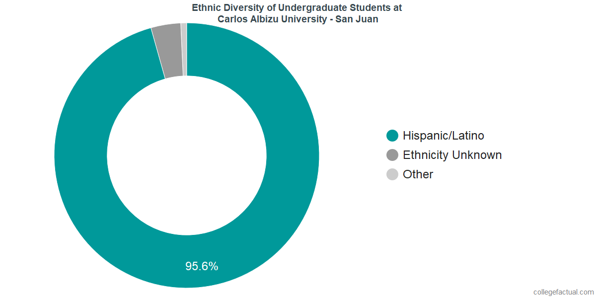 Ethnic Diversity of Undergraduates at Carlos Albizu University - San Juan