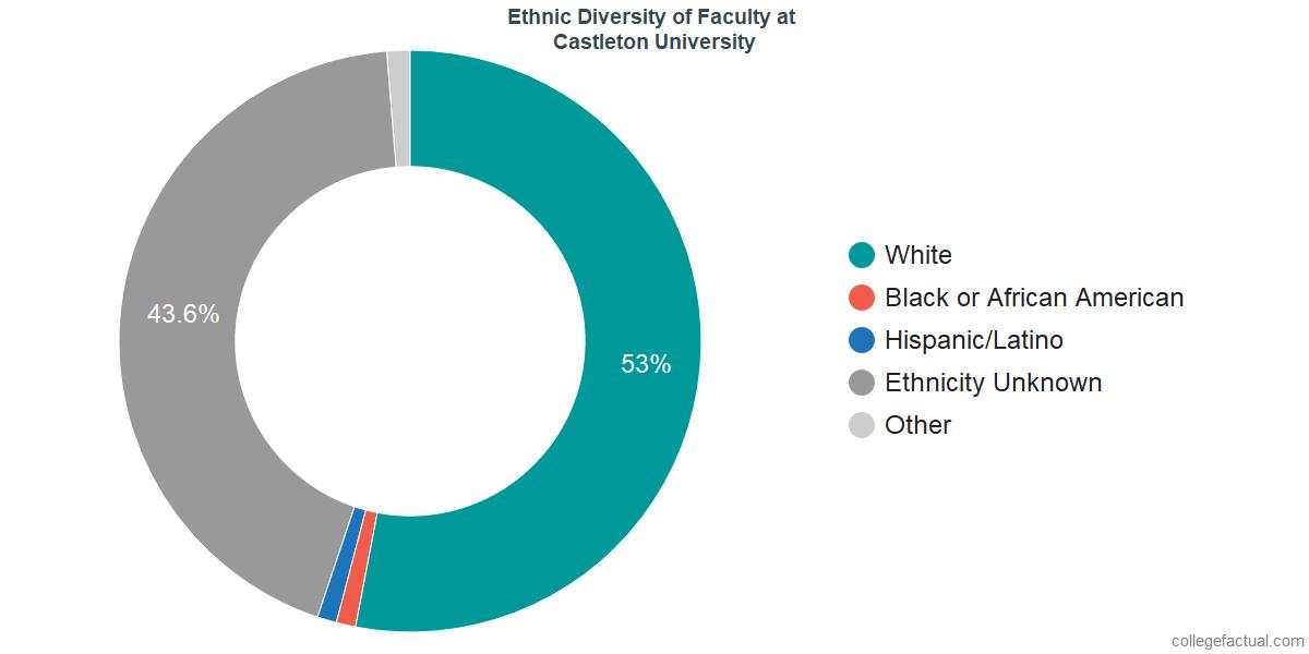 Ethnic Diversity of Faculty at Castleton University