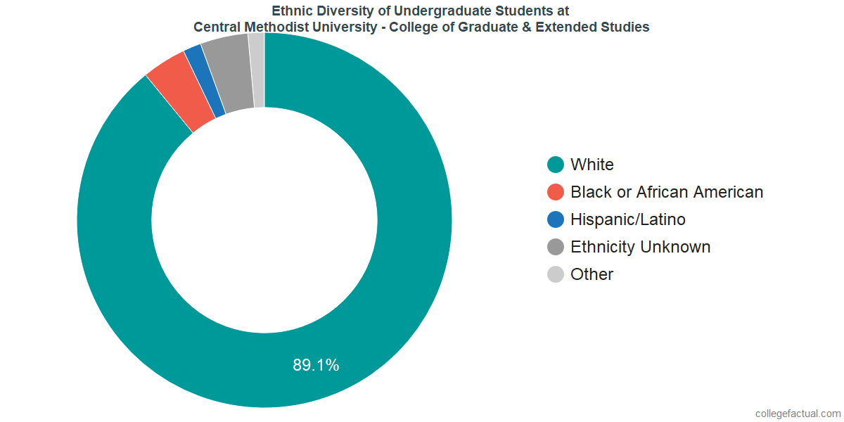 Ethnic Diversity of Undergraduates at Central Methodist University - College of Graduate & Extended Studies
