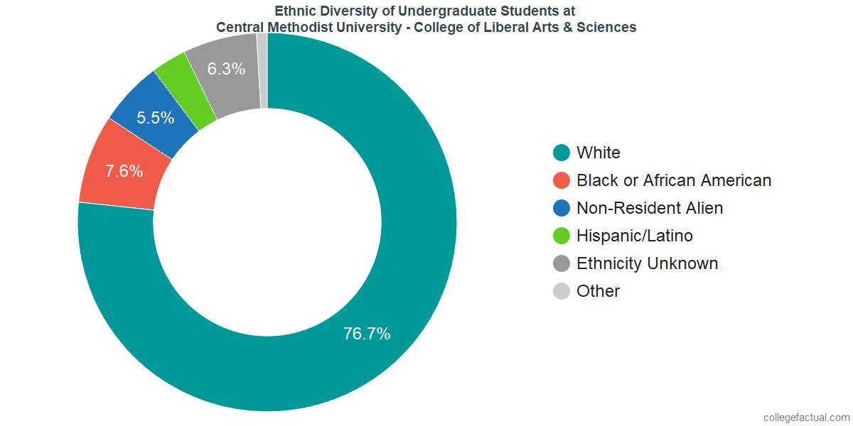 Ethnic Diversity of Undergraduates at Central Methodist University - College of Liberal Arts & Sciences
