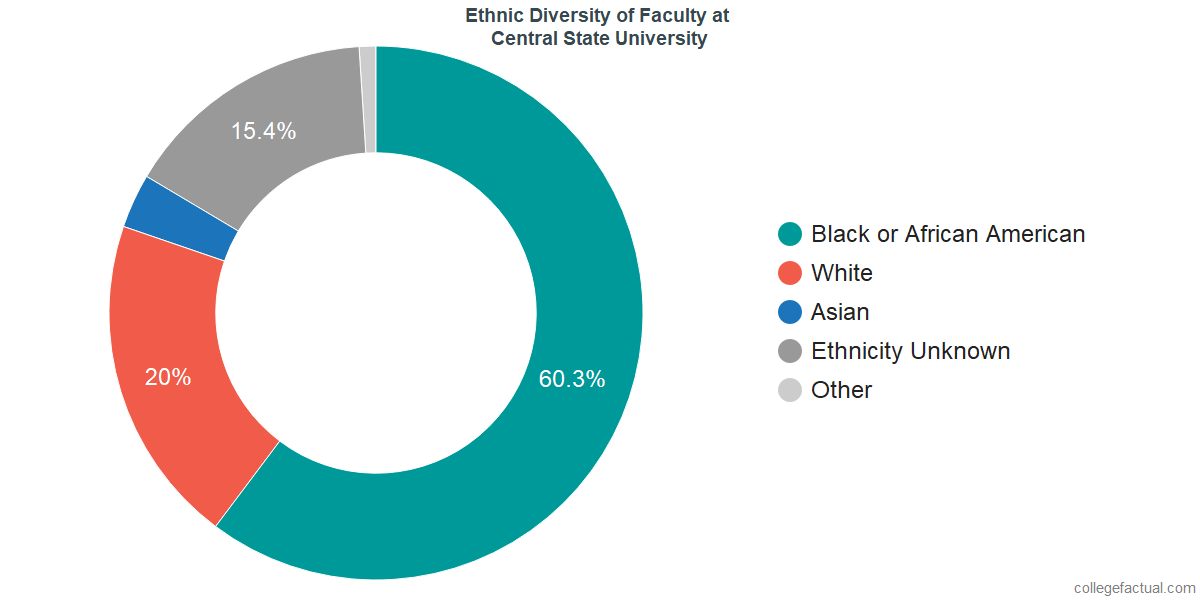 Ethnic Diversity of Faculty at Central State University