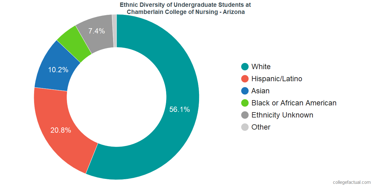 Ethnic Diversity of Undergraduates at Chamberlain University - Arizona