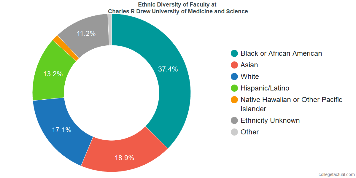 Ethnic Diversity of Faculty at Charles R Drew University of Medicine and Science