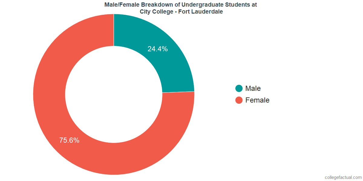 Male/Female Diversity of Undergraduates at City College - Fort Lauderdale