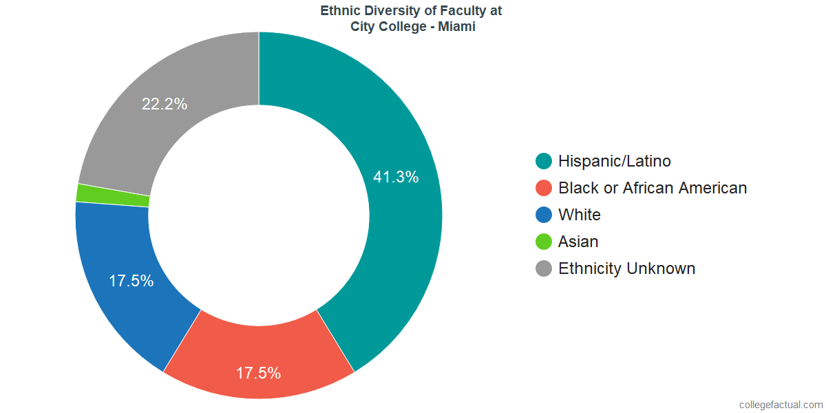 Ethnic Diversity of Faculty at City College - Miami