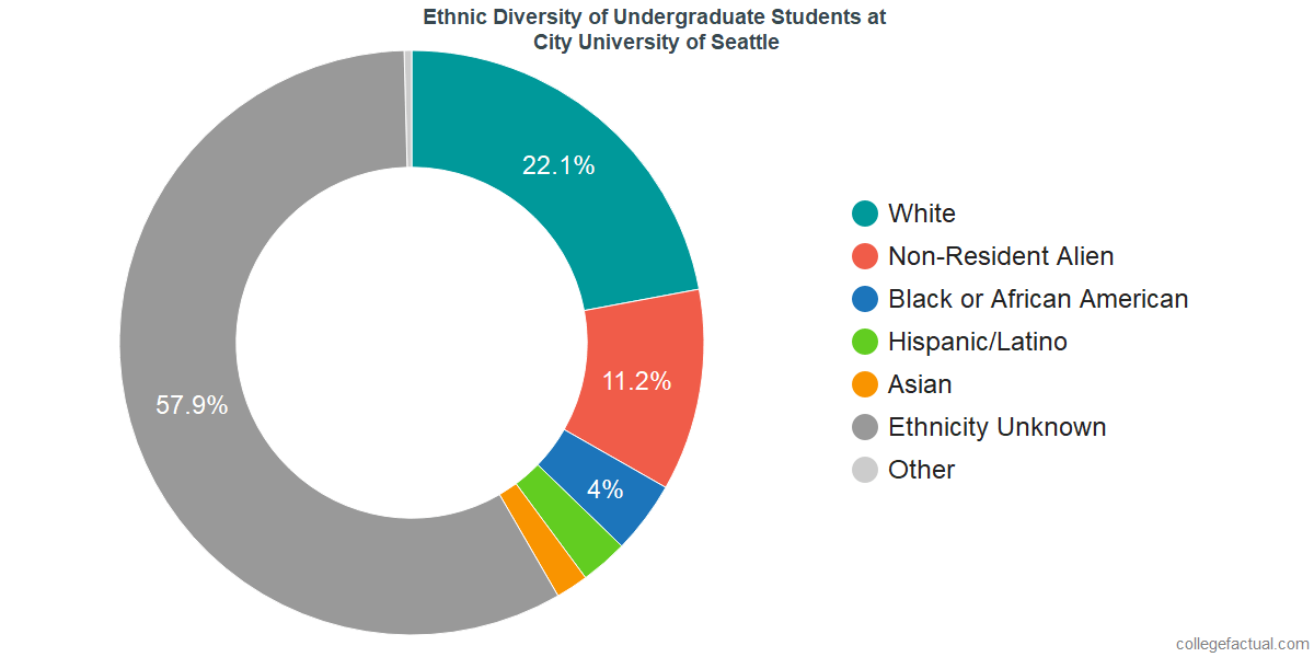 Ethnic Diversity of Undergraduates at City University of Seattle
