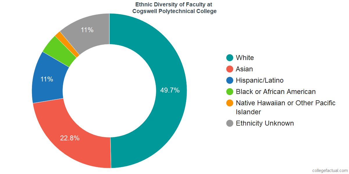 Ethnic Diversity of Faculty at Cogswell College