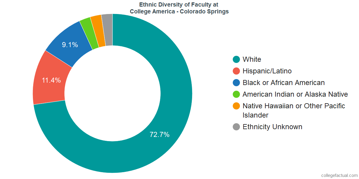 Ethnic Diversity of Faculty at CollegeAmerica - Colorado Springs