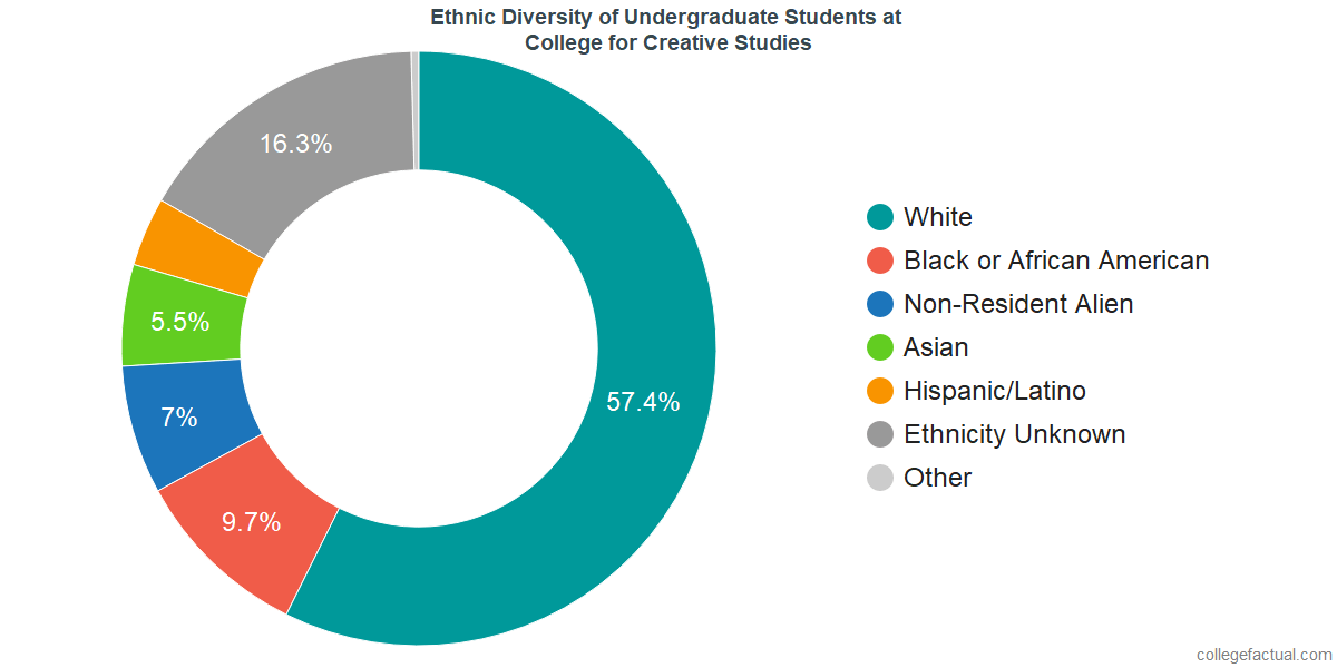 Ethnic Diversity of Undergraduates at College for Creative Studies