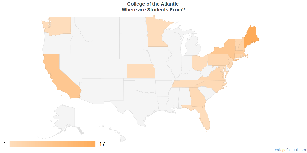 What States are Undergraduates at College of the Atlantic From?
