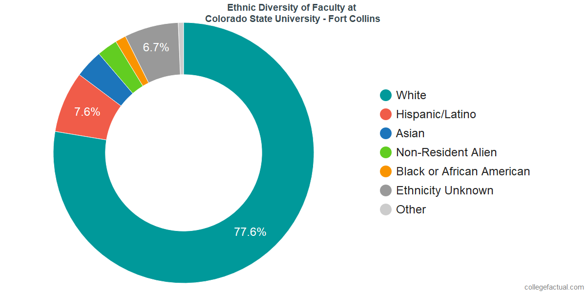 Ethnic Diversity of Faculty at Colorado State University - Fort Collins