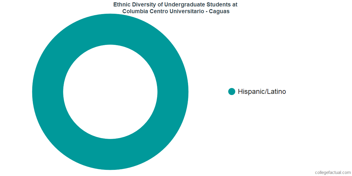 Ethnic Diversity of Undergraduates at Columbia Central University - Caguas