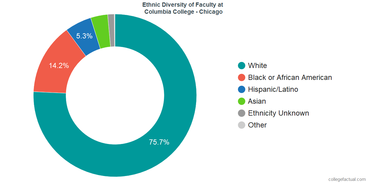 Ethnic Diversity of Faculty at Columbia College Chicago