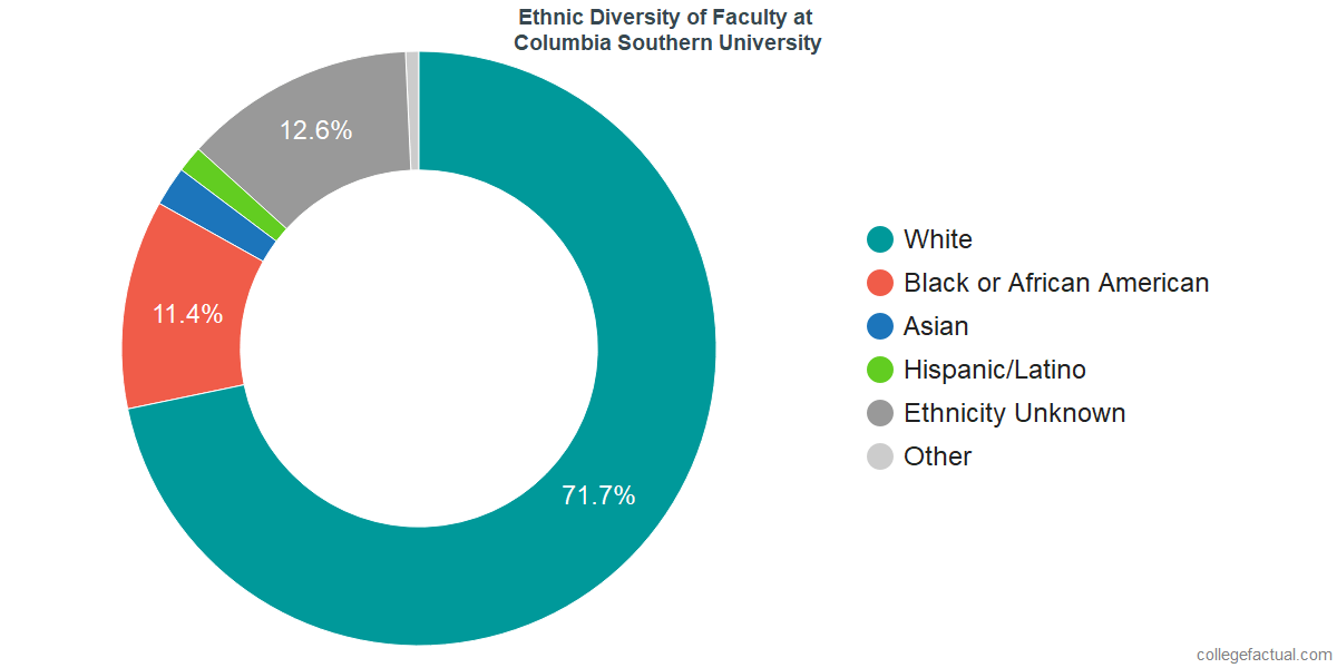 Ethnic Diversity of Faculty at Columbia Southern University