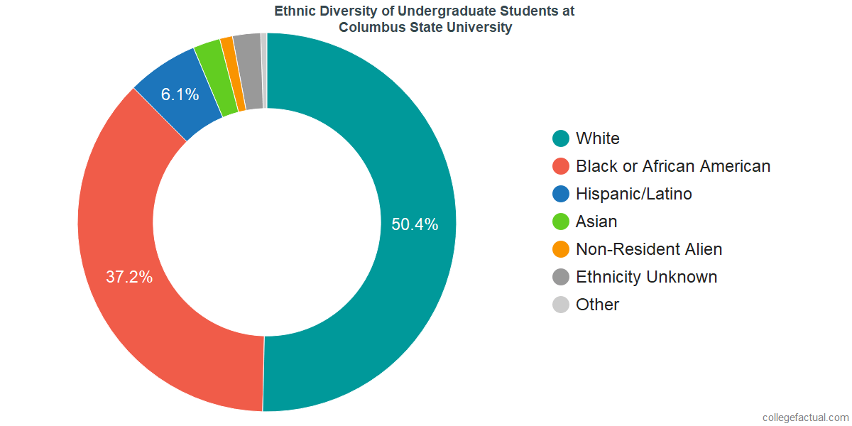 Ethnic Diversity of Undergraduates at Columbus State University