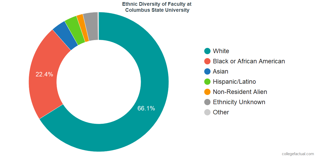Ethnic Diversity of Faculty at Columbus State University
