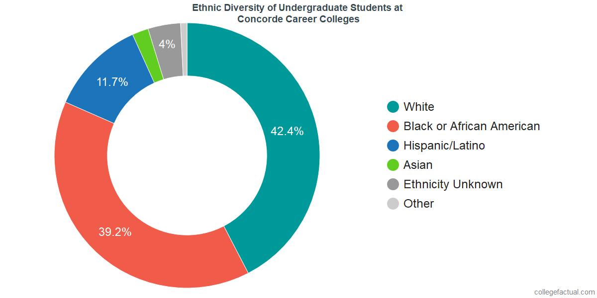 Ethnic Diversity of Undergraduates at Concorde Career Colleges