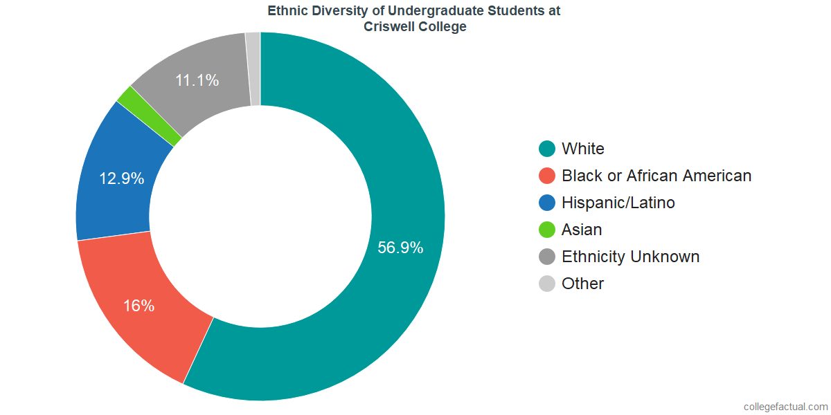 Ethnic Diversity of Undergraduates at Criswell College