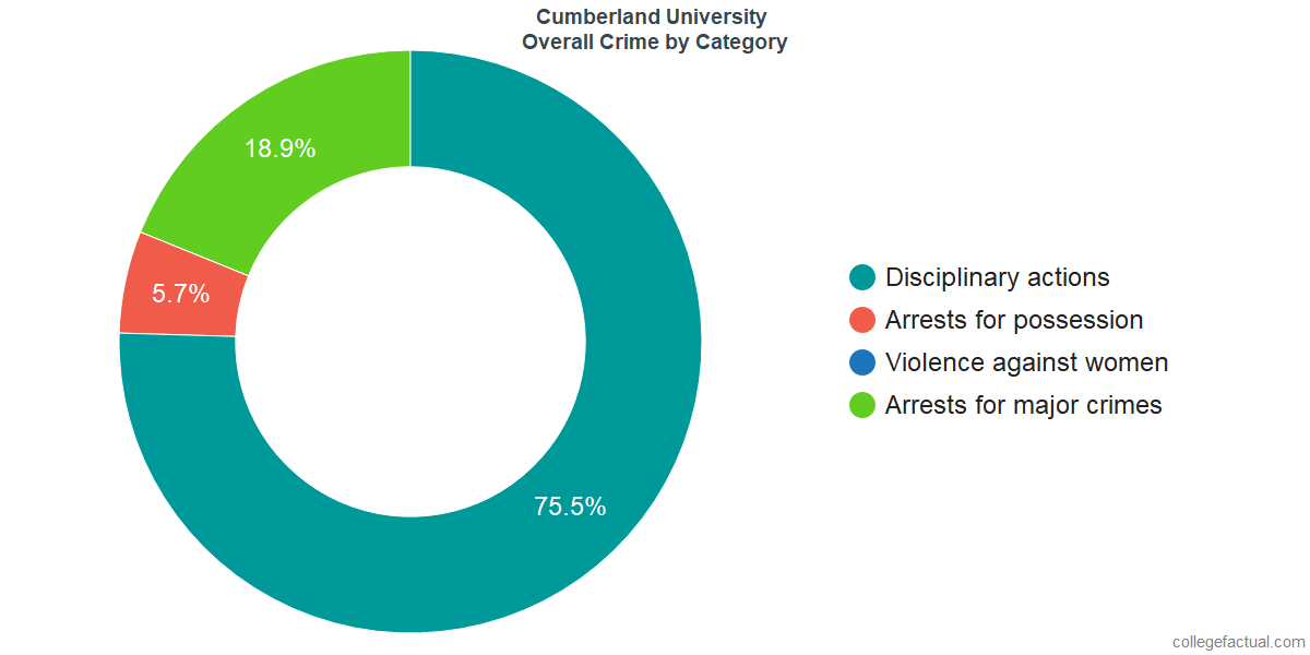 Overall Crime and Safety Incidents at Cumberland University by Category