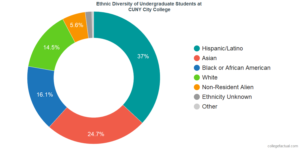 Ethnic Diversity of Undergraduates at CUNY City College