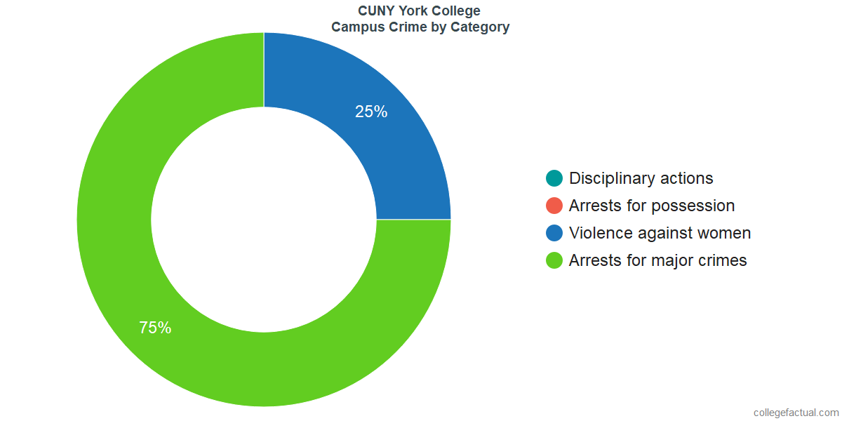 On-Campus Crime and Safety Incidents at CUNY York College by Category
