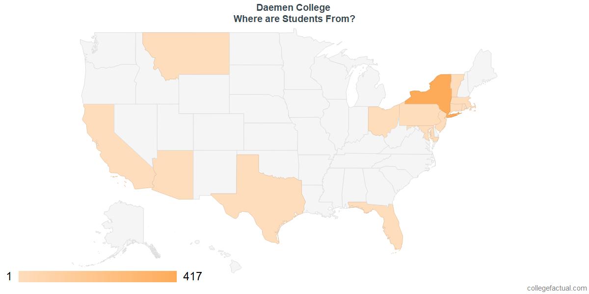 What States are Undergraduates at Daemen College From?