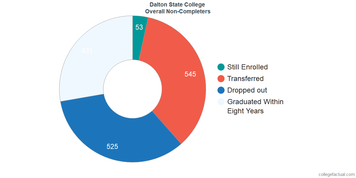 outcomes for students who failed to graduate from Dalton State College