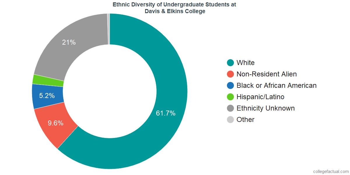 Ethnic Diversity of Undergraduates at Davis & Elkins College