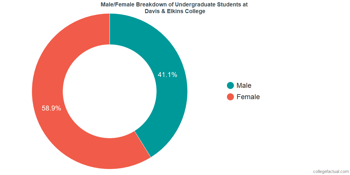 Male/Female Diversity of Undergraduates at Davis & Elkins College