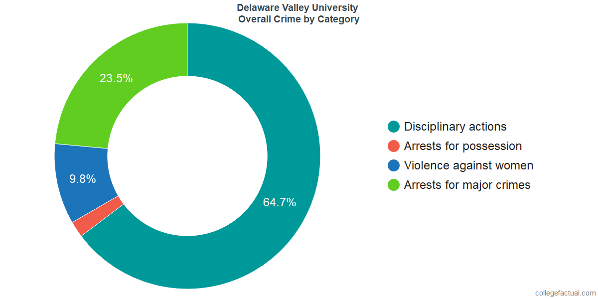 Overall Crime and Safety Incidents at Delaware Valley University by Category