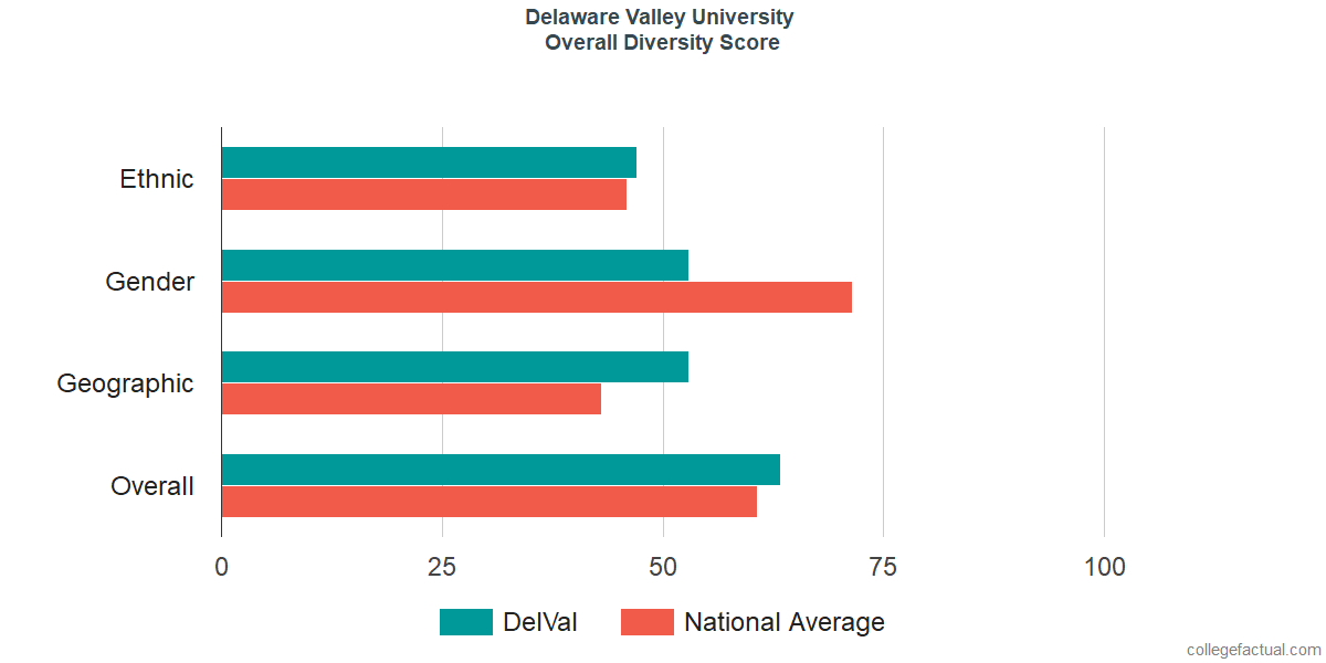 Overall Diversity at Delaware Valley University
