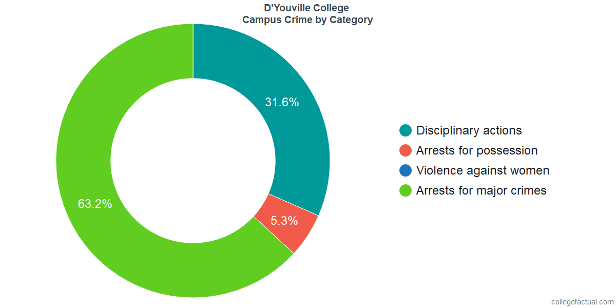 On-Campus Crime and Safety Incidents at D'Youville College by Category