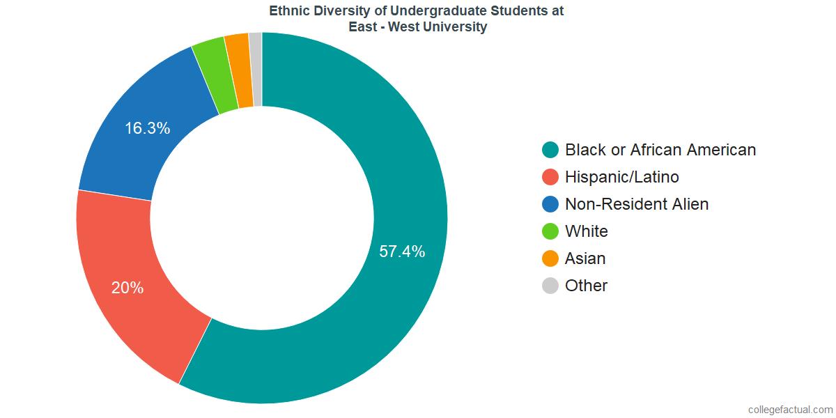 Ethnic Diversity of Undergraduates at East - West University