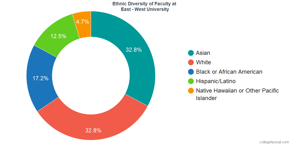 Ethnic Diversity of Faculty at East - West University