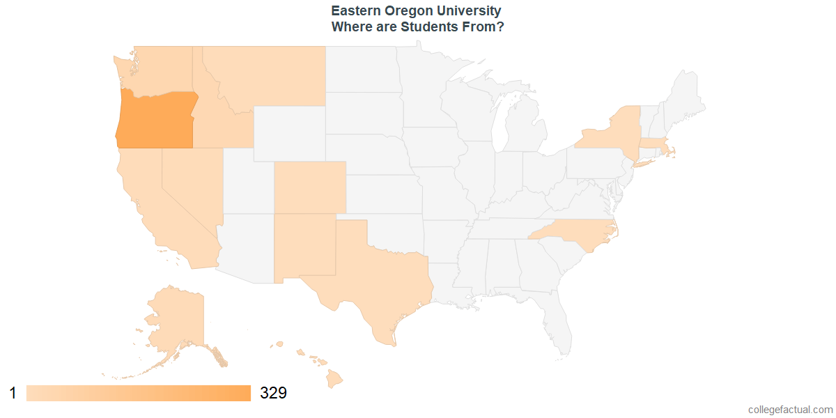 What States are Undergraduates at Eastern Oregon University From?