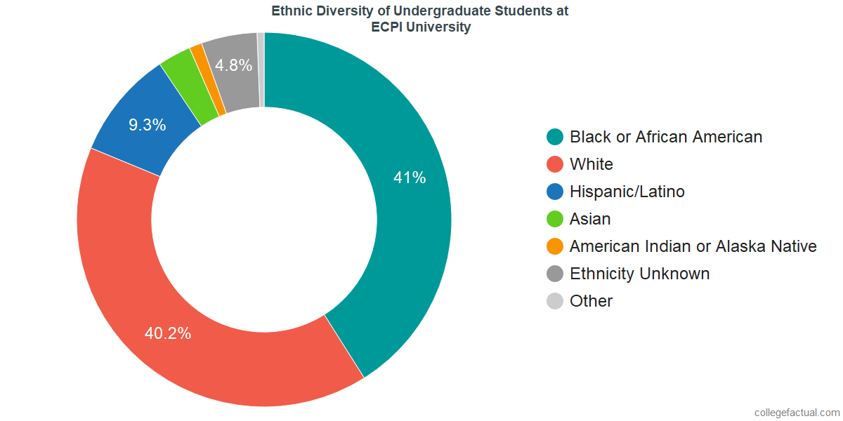 Ethnic Diversity of Undergraduates at ECPI University